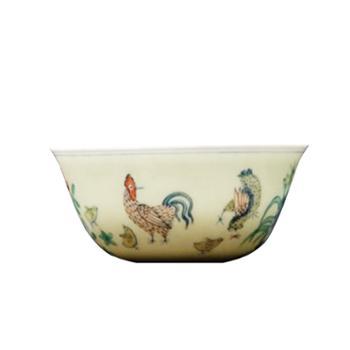 金和汇景-手绘斗彩鸡缸杯