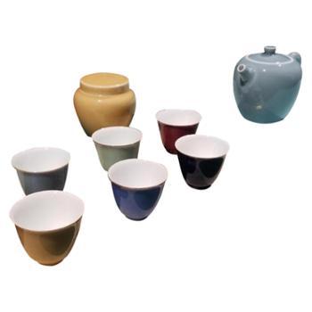 金和汇景-豆青壶9头茶具套组