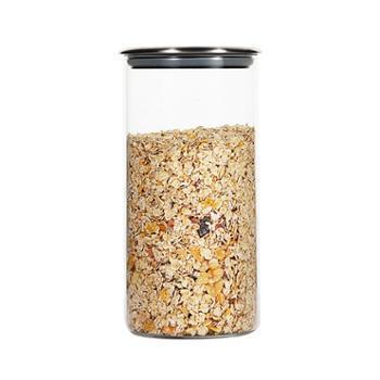 海畅不锈钢盖玻璃密封罐储物罐茶叶罐1350ml