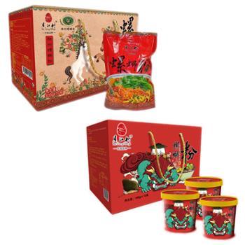 贝江村柳州螺蛳粉中秋礼包冲泡款4件+袋装水煮4件