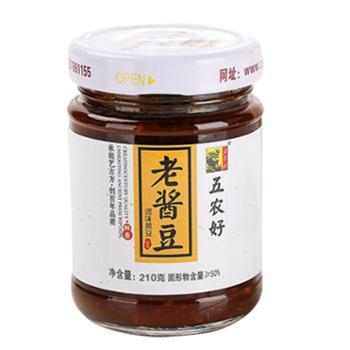 五农好 辣椒酱老酱豆组合 210g×2瓶 下饭