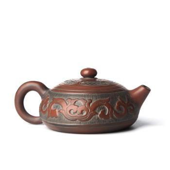 壶福源 钦州坭兴陶茶壶 彩云