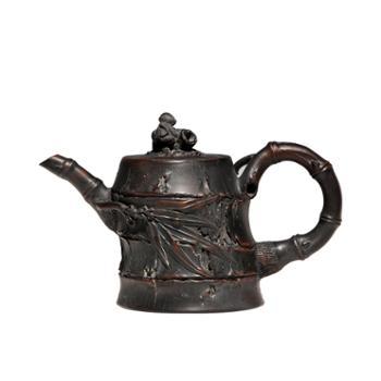 壶福源 钦州坭兴陶茶壶 节节高升