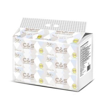 洁柔纸面巾(布艺方格软抽)3层100抽(6包装)