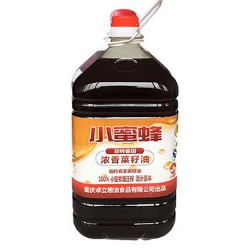 小蜜蜂重庆特产食用油小蜜蜂浓香菜籽油5L