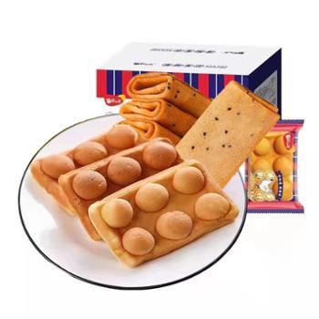 每日小点 香酥凤凰卷芝麻味+港式鸡蛋仔小蛋糕组合装 凤凰卷370g+小蛋糕250g