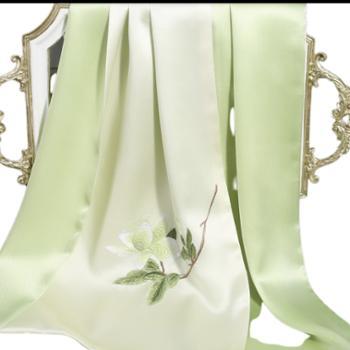 丝语棠重磅真丝素绉缎-玉兰花系列