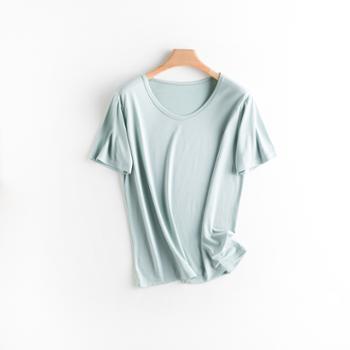 KPUWARM居家简约女款T恤冰丝凉感短袖打底衫5色可选ZJWJ-9620GX